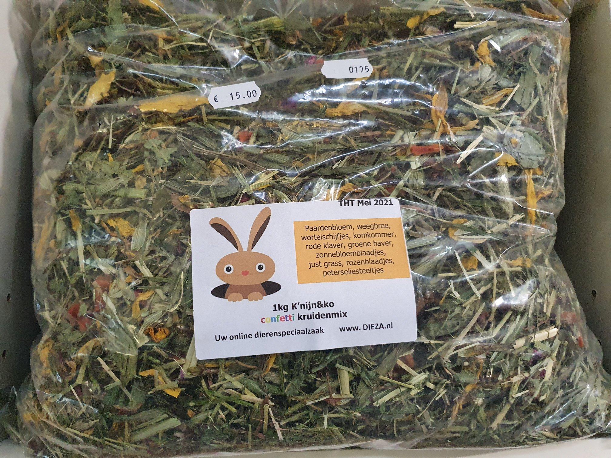 Knijn en Ko confettie kruidenmix 1 kg € 15,-
